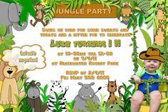 Jungle Birthday Party Invitation Wording