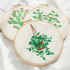 Hand embroidery kit beginner Modern DIY Embroidery Plant Handcraft Needlework Cross Stitch Kit Cotton Embroidery Painting Hoop Home Decor Embroidery Needles, Embroidery Patterns, Hand Embroidery, Embroidery Materials, Cross Stitch Fabric, Sewing Tools, Canvas Fabric, Diy Craft Projects, Printing On Fabric
