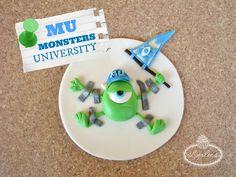 Green Monster Cupcake from Monsters University