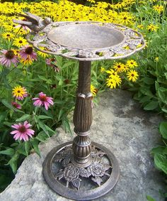 Take a look at this Rose Birdbath by Oakland Living on #zulily today!  http://www.zulily.com/invite/Zulily20Store