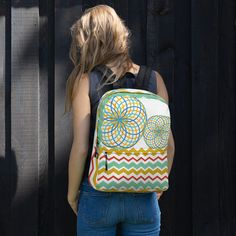 This Women's Floral Backpack is just what you need for daily use or sports activities! The pockets (including one for your laptop) give plenty of room for all your necessities, while the water-resistant material will protect them from the weather. Gym Backpack, Floral Backpack, Baguio, Mesh Material, Printed Bags, Bag Making, Fabric Weights, Cute Couples, Floral Prints