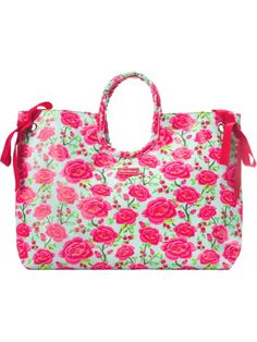 Carry your beach essentials in style in this water-resistant tote. An ample interior gives you room for your belongings (including bulky towels), and the bag includes both carrying handles and a shoulder strap for versatility. Lunch Box Cooler, Beach Essentials, Red Turquoise, Cosmetic Bag, Diaper Bag, Shoulder Strap, Take That, Pink, Beach Bags