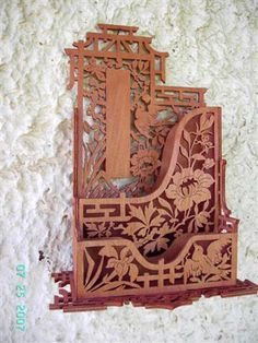 Japanese filing cabinet, scroll saw fretwork pattern
