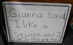 """Write down what a child says on a small white board and then have the children """"read"""" what is written on the board."""