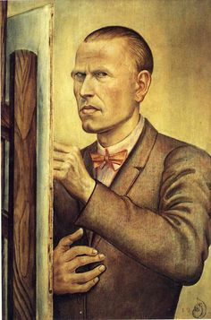 Otto Dix, Self Portrait with Easel.
