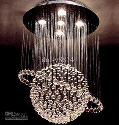 Wholesale most popular style 5 lights Dia500H800mm crystal ceiling lights, Free shipping, $344.85-397.1/Piece | DHgate