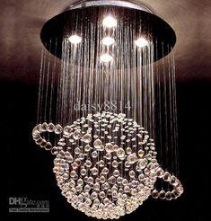 Hot S Modern Style Crystal Ball Chandelier Led Lights Dia500 H800mm Re Living Room Lamp