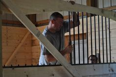 Building Custom Arched Stall Dividers #barn #horses
