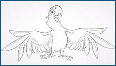 Resultado de imagen para dibujos para pintar en  rectangulo Cockatoo, Paper Piecing, Coloring Pages, Rooster, Birds, Animals, Image, Cartoons, Rio Movie