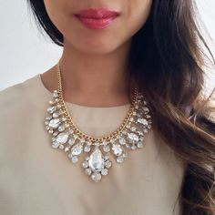 Crystal Princess Bib Necklace