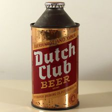 DUTCH CLUB IRTP CONE TOP BEER CAN PITTSBURGH BREWING PENNSYLVANIA EBERHARDT OBER