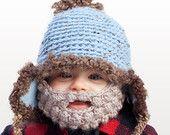 Baby Beard Hat - Fleece Lined with Detachable Beard