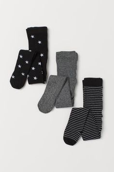 Fine-knit tights in a soft cotton blend with an elasticized waistband. H&m Recycle, Scarlett Rose, Gift Card Shop, H&m Gifts, Music Gifts, Black Star, Black Tights, Fashion Company, Christmas Shopping