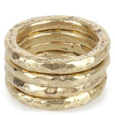 twiga jewelry | Ashley Pittman - Bronze Twiga Ring Set (Bronze) - Hirshleifers