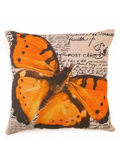 A Loja do Gato Preto | Capa de Almofada Borboleta / Lettering #alojadogatopreto Throw Pillows, Lettering, Animals, Butterfly, Mantle, Black, Gatos, Home, Boutique Online Shopping