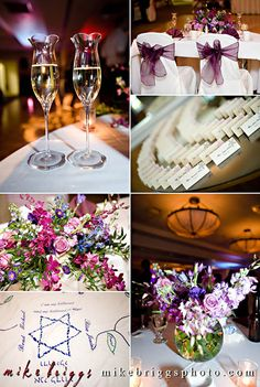 Reception details.  (Flowers by Lee Forrest Design, photo by: Mike Briggs Photography)