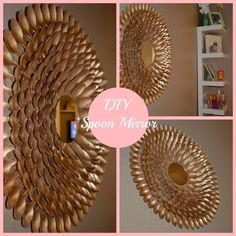 Please visit postingan Diy Spoon Mirror Wall Decor To read the full article by click the link above. Plastic Spoon Mirror, Plastic Spoon Crafts, Plastic Spoons, Mirror Wall Art, Diy Wall Art, Diy Wall Decor, Mirror Mirror, Room Decor, Diy Interior