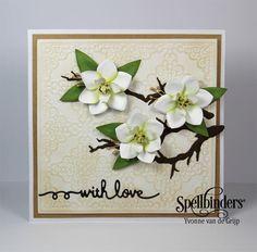 With Love Magnolia Card - Spellbinders