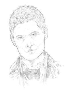 The title is not lying. Supernatural Dean, Fan Art
