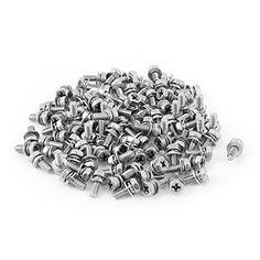 cheap m4x10mmx8mm hex bolts tap phillips head screws 100pcs w washers on sale