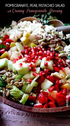 Pomegranate-Pistachio-Pear-Salad-with-Pomegrante-Dressing