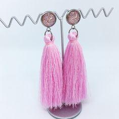Rose Pink tassel earrings - $20AUD - allure style