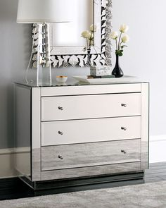 23 Decorating Tricks for Your Bedroom | Mirrored dresser and ...