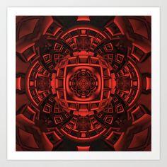 CenterViewSeries309 Art Print by fracts - fractal art - $16.00