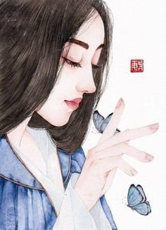 Painting Of Girl, Girl Paintings, Art Girl, Avatar, Draw, Female, Anime, To Draw, Sketches