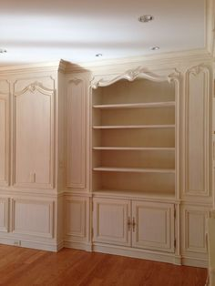 Hand carved Boiserie master bedroom. Designed & manufactured by Auffrance.