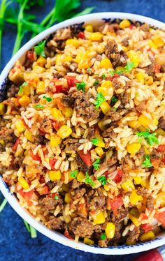 Mexican Chorizo Rice with corn and Rotel tomatoes:Mexican Chorizo Rice is a fully flavored and spicy rice dish that goes great with tacos, quesadillas, burritos, you name it! It's loaded with fresh chorizo sausage. Pork Chorizo Recipe, Chorizo Rice, Beef Chorizo, Mexican Chorizo, Vegan Chorizo, Sausage Recipes, Cooking Recipes, Recipies, Desert Recipes