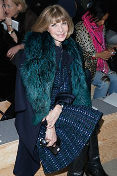 Anna Wintour - Reed Krakoff - Front Row - Mercedes-Benz Fashion Week Fall 2014 - Feb. 12, 2014.   Photo by Cindy Ord/Getty Images