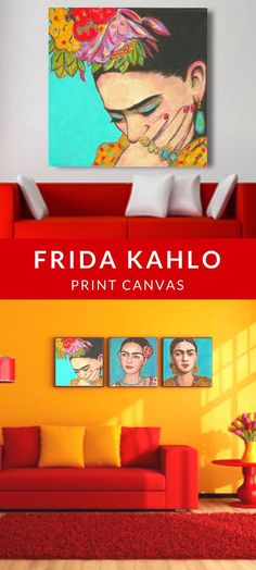 Frida Kahlo Print Canvas | Home Decor | Wall Art | Paintings | Artwork | Pinturas #FridaKahlo #homedecor #homedecorideas #prints #canvas #artwork #ad