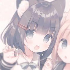 #neko #icon #cute #kawaii #aesthetic #anime #pfp  Cute Anime Profile Pictures, Matching Profile Pictures, Cute Anime Pics, Art Anime, Anime Chibi, Anime Art Girl, Friend Anime, Anime Best Friends, Best Friend Match
