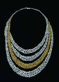 popley diamond jewellery collection - white and yellow diamonds necklace - Google Search