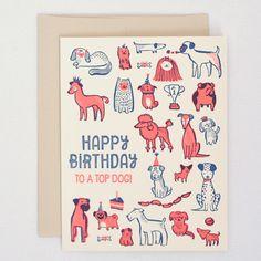 www.hellolucky.com – Happy Birthday card with dogs