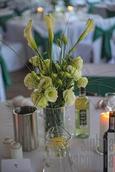zielony bukiet wesele