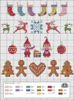 Ideas Embroidery Christmas Stocking Cross Stitch Patterns For 2019 - Cross stitch embroidery - Tiny Cross Stitch, Xmas Cross Stitch, Cross Stitch Christmas Ornaments, Christmas Embroidery, Cross Stitch Kits, Cross Stitch Charts, Counted Cross Stitch Patterns, Cross Stitch Designs, Cross Stitching