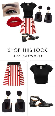 """""""Black and Red"""" by sydclaire ❤ liked on Polyvore featuring Dolce&Gabbana, Marni, Maison Margiela, Lime Crime, white, black, red, blackandred and SydClaire"""