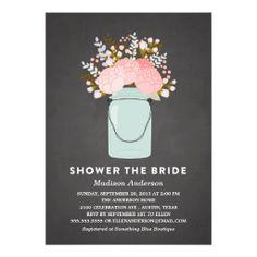 RUSTIC FLOWERS | BRIDAL SHOWER INVITATION
