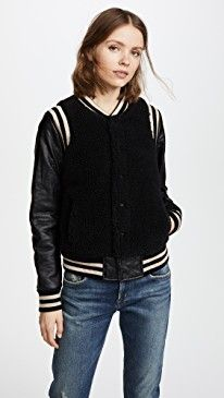 New MOTHER Snap Letterman Jacket online. Find the  great Giada Forte Clothing from top store. Sku nrhg17831wuop23370