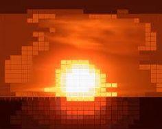 8 bit sunset