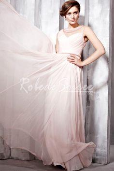 A-ligne col rond froncé robe rose de soirée tencel [RDS1302040166] - €219.69 : Robe de Soirée Pas Cher,Robe de Cocktail Pas Cher,Robe de Mariage,Robe de Soirée Cocktail.