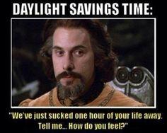 Daylight Savings Time Meets The Princess Bride