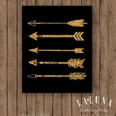Black Gold Bedroom Arrow Print Arrow Wall Art Gold Glitter Arrow by LaLunaDesigns - Gold Rooms, Gold Bedroom, Glitter Bedroom, Bedroom Art, Nursery Art, Nursery Decor, Bedroom Ideas, Gold Room Decor, My New Room