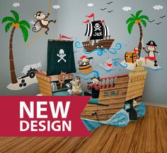 Hey, I found this really awesome Etsy listing at https://www.etsy.com/listing/189591054/pirates-wall-decal-ship-captain-jack