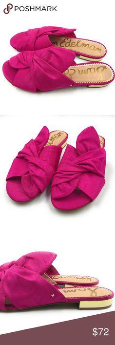 8a168aabe6c6 Sam Edelman Darian Flat Sandals Deep Pink Sam Edelman Womens Darian Pink  Flat Sandals Shoes Size