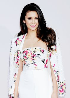 Nina Dobrev attends the 2015 American Music Awards at Microsoft Theater on November 22, 2015 in Los Angeles.