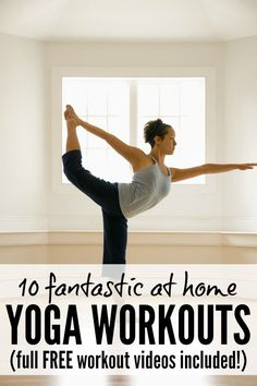 If you want to build core body strength and posture while also reducing stress, this collection of 10 free at-home yoga workouts is just what you need!