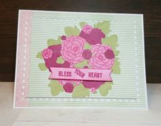 Bless your heart card created using Honey Bee Stamps and Altenew inks